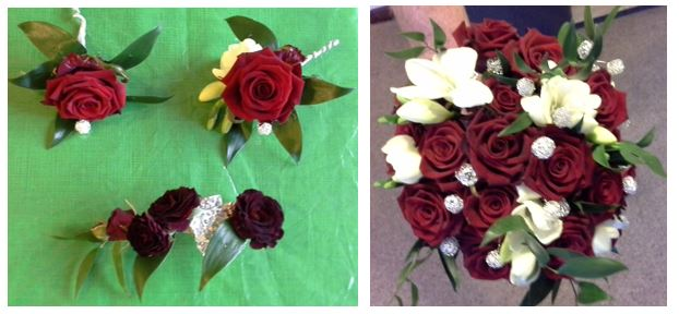 buttonholes and posy