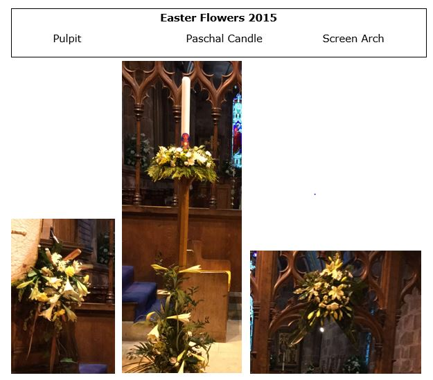 Easter flowers x 2
