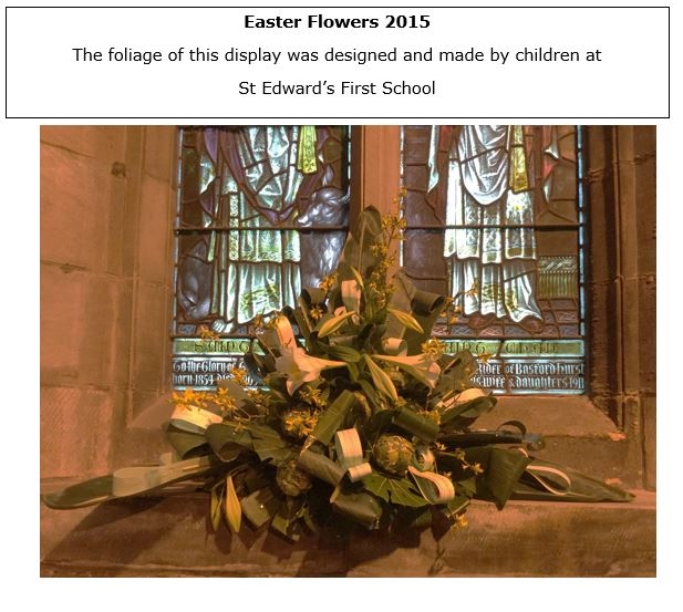 Easter flowers x 5
